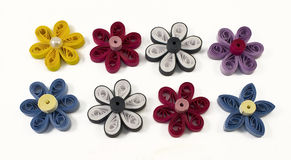 Quilling multicolored flowers. From paper Royalty Free Stock Photography