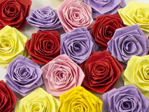 Quilling multicolored roses. From paper Royalty Free Stock Image