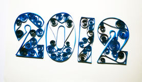 Quilling numbers 2012 Stock Photo