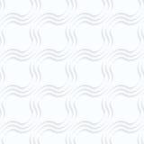 Quilling paper diagonal bulging waves Royalty Free Stock Images