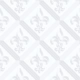 Quilling paper Fleur-de-lis with double grid stock illustration