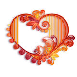 Quilling paper heart. Happy valentine day. Vector Stock Photo