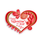 Quilling paper heart. Vector illustration. Happy Royalty Free Stock Photo