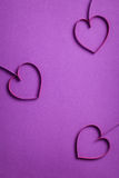 Quilling paper hearts like flowers Royalty Free Stock Photography