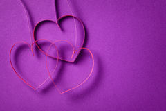 Quilling paper hearts like flowers Royalty Free Stock Images