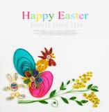 Quilling su un tema Pasqua felice di festa Fotografia Stock