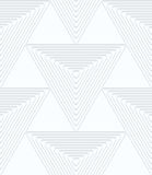 Quilling white paper big triangles with offset Royalty Free Stock Image