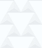 Quilling white paper small triangles with offset Stock Photos