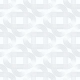 Quilling white paper striped intersecting ovals Royalty Free Stock Photography