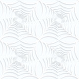 Quilling white paper twisted spider webs in row Royalty Free Stock Photography
