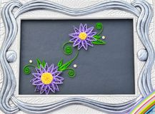 Quillingskunst, document kunst, document met de hand gemaakte bloemen royalty-vrije stock fotografie
