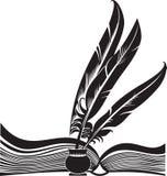 quills книги Стоковая Фотография