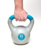 6 quilogramas de kettlebell do cinza Imagem de Stock Royalty Free