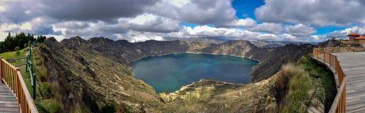 Quilotoa火山口湖,厄瓜多尔 库存照片