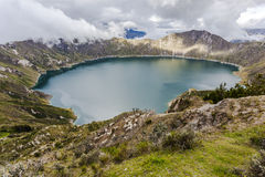 Quilotoa火山口湖,厄瓜多尔 库存图片