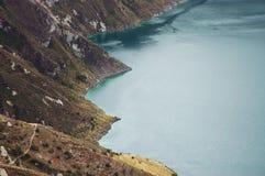 quilotoa лагуны эквадора Стоковые Фото