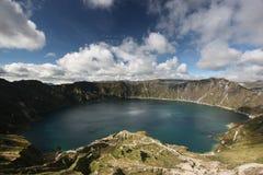 quilotoa озера Стоковое Изображение RF
