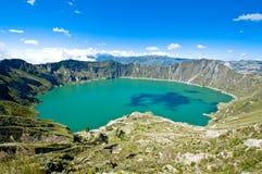 Quilotoa湖 免版税库存照片