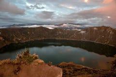 Quilotoa caldera and lake, Andes Stock Image