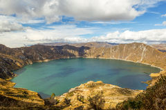 Quilotoa Crater Lagoon Stock Photography