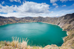 Quilotoa crater lake, Ecuador Royalty Free Stock Image