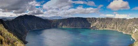 Quilotoa Crater Lake, Ecuador Royalty Free Stock Photo