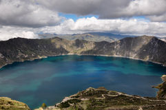 Quilotoa Crater Lake, Ecuador Royalty Free Stock Image