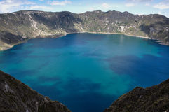 Quilotoa Crater Lake, Ecuador Royalty Free Stock Images