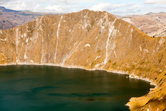 Quilotoa Crater Landscape Royalty Free Stock Image