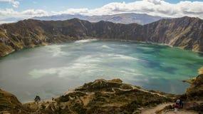 Quilotoa Crater See lizenzfreies stockbild