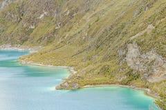 Quilotoa jezioro, Latacunga Ekwador Zdjęcia Royalty Free