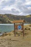 Quilotoa jezioro przy brzeg, Latacunga, Ekwador Obraz Stock