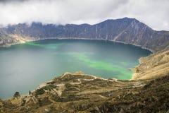 Quilotoa jezioro w Ekwador Zdjęcie Royalty Free