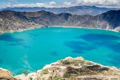 Quilotoa-Kratersee, Ecuador Lizenzfreies Stockbild