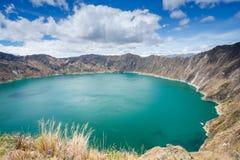 Quilotoa krateru jezioro, Ekwador Obraz Royalty Free