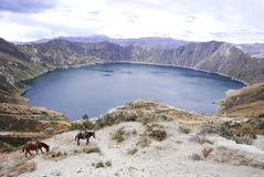 Quilotoa lagoon, Andes, Ecuador Royalty Free Stock Photo