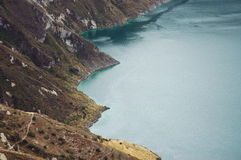 Quilotoa lagoon,Ecuador. Stock Photos