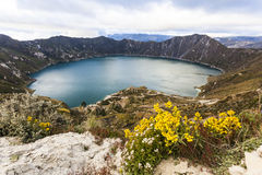 Quilotoa lagoon Stock Images