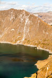 Quilotoa Lagoon Vertical Stock Photography