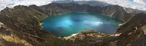 quilotoa laguna Стоковые Фотографии RF