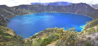 Quilotoa-Lagune, Cotopaxi, Ecuador lizenzfreies stockbild