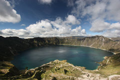 Quilotoa Lake. The famous blue Quilotoa Lake in Ecuador Royalty Free Stock Image