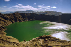 Quilotoa lake Arkivfoto