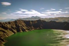 Quilotoa lake Royaltyfri Foto