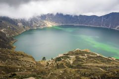 Quilotoa lake in Ecuador Stock Image