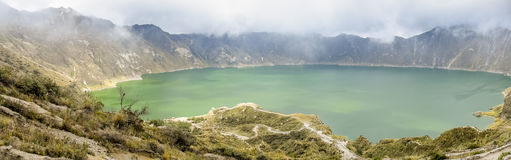 Quilotoa lake in Ecuador Stock Images