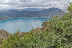 Quilotoa Lake, Latacunga Ecuador Stock Photo