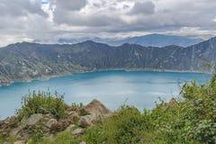 Quilotoa Lake, Latacunga Ecuador Royalty Free Stock Photos