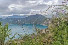 Quilotoa Lake, Latacunga Ecuador Stock Image