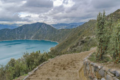 Quilotoa Lake, Latacunga Ecuador Stock Images